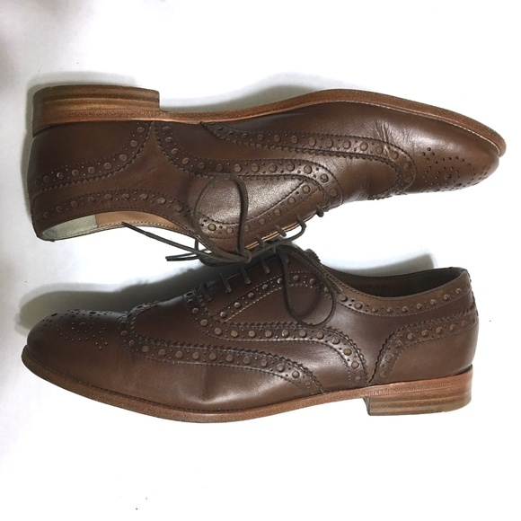 73181d0097795 Vintage Church's Oxford Brogues Brown Leather 8